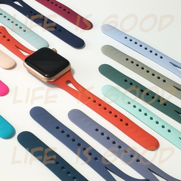 Soft Silicone Narrow Sport Band fits w Apple Watch Series 5 4 3 2 and 1  $7.85