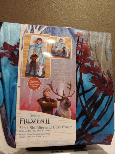 Frozen II 2 in 1 Slumber and Cozy Cover Sleeping Bag Blanket