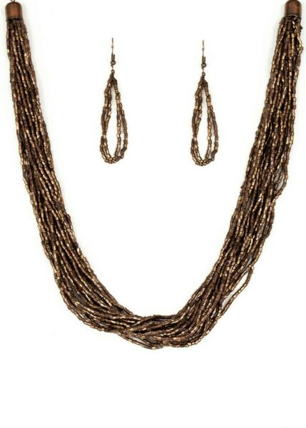 Paparazzi Jewelry Necklace The Speed of STARLIGHT Copper Seed Beads 1566