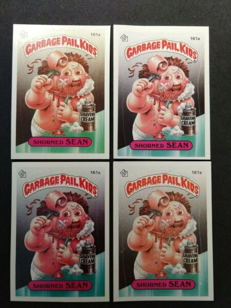 Garbage Pail Kids Series 4. Shorned Sean light dark and diff colors. OS4. 1986