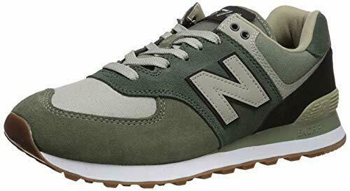 New Balance Men's Iconic 574 Sneaker, Mineral Green/Black, 7.5 D US