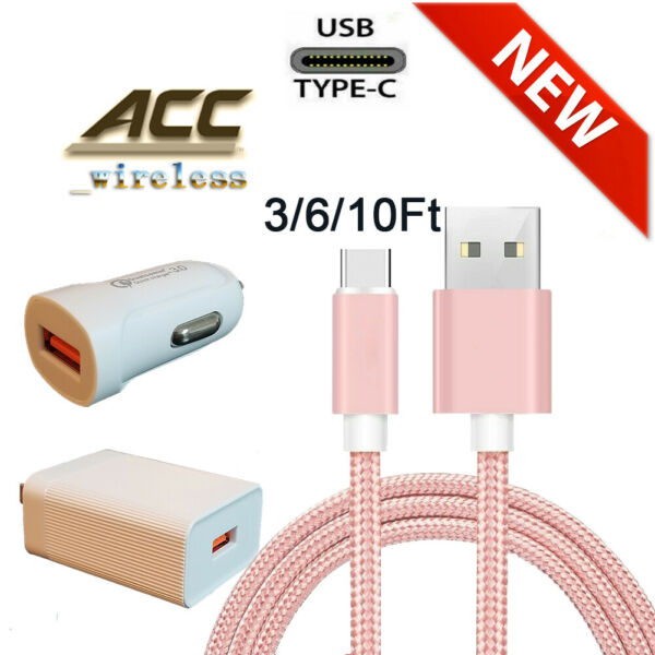 OEM Samsung Galaxy S10 S8 S9 Plus Fast Wall Charger 3610 FT USB-C Type-C Cable