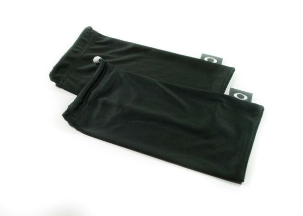 OAKLEY 2 PACK LARGE BLACK MICRO FIBER CLOTH SUNGLASSES CLEANING STORAGE BAGS $10.79
