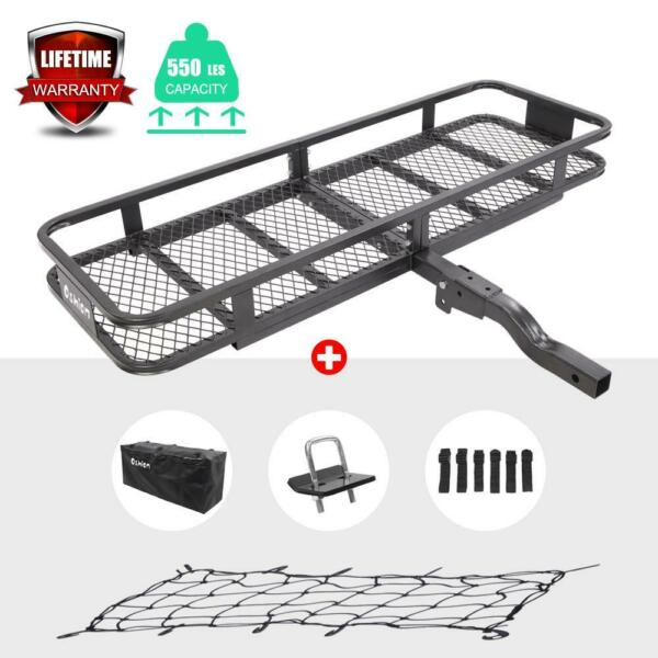 Folding Rack Cargo Basket Trailer Hitch Mount Luggage Carrier for Car SUV 500lbs $99.95