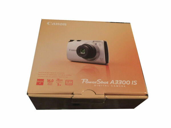Pink CANON POWERSHOT A3300 16mp 5x ZOOM WITH CHARGER Kit in Original Box