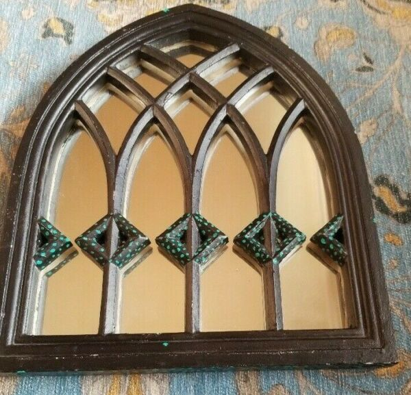 Medieval Style Arched Mirror Window Wood Frame Free Shipping