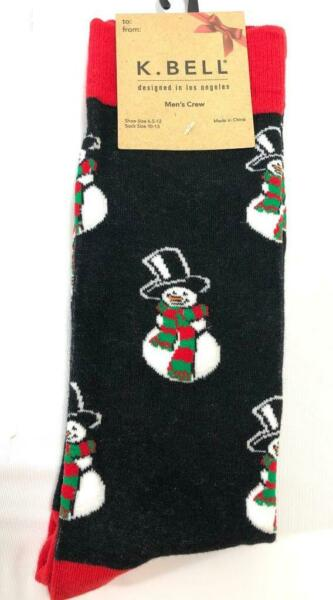 K Bell HOLIDAY CHRISTMAS SOCKS pick snowman crab candy cane truck fireplace