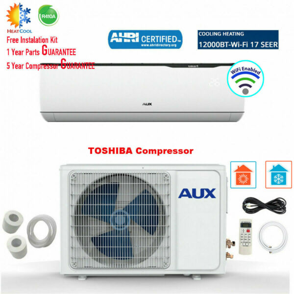 12000 BTU Ductless MINI Split Air Conditioner with Heat Pump WiFi 115V 17 SEER $549.99