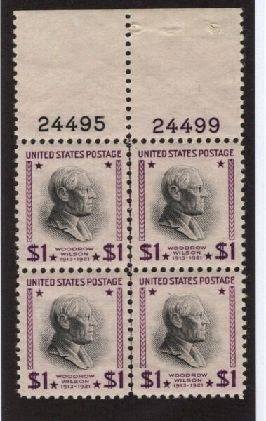 U.S. -  832 - Plate Block - Very Fine - Never Hinged (Plate Number 24495 24499)