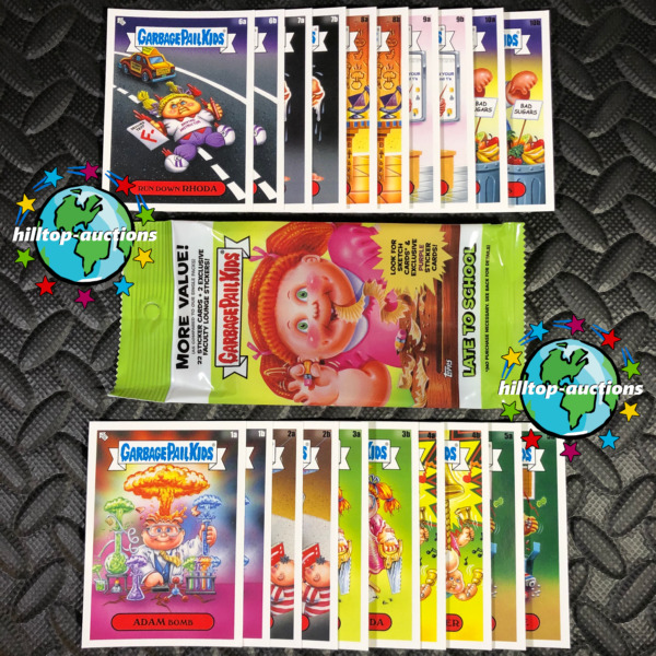 2020 GARBAGE PAIL KIDS LATE TO SCHOOL 20-CARD FACULTY LOUNGE SET +FREE WRAPPER!