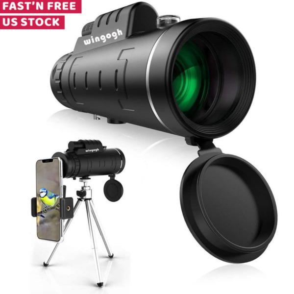 HD Monocular Telescope For Bird Watching Camping With Smartphone Holder Tripod