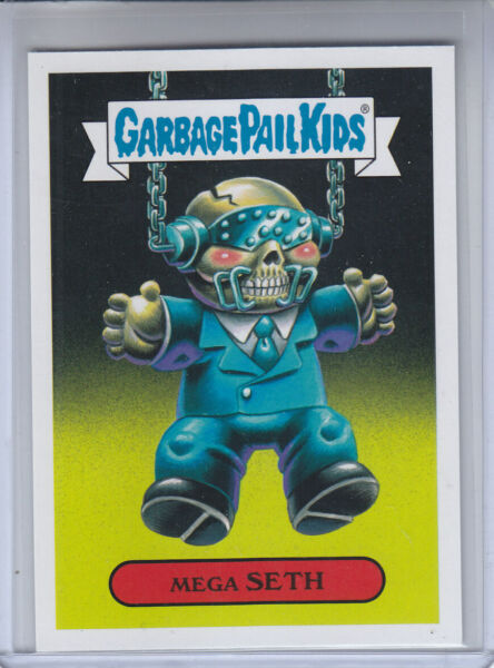 2017 Topps Garbage Pail Kids Battle of the Bands Metal Card #3a Mega SETH (MINT)