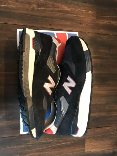 NEW BALANCE 998 x J CREW Running Shoes Mens 10.5 Made in USA NAVY SUEDE M998JC1