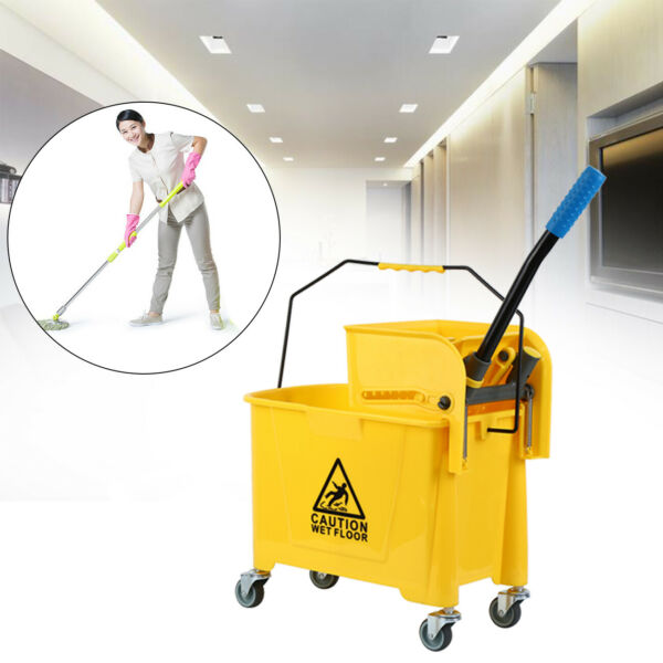 Samger 5 Gallon Mini Mop Bucket wWringer Combo Commercial Rolling Cleaning Cart
