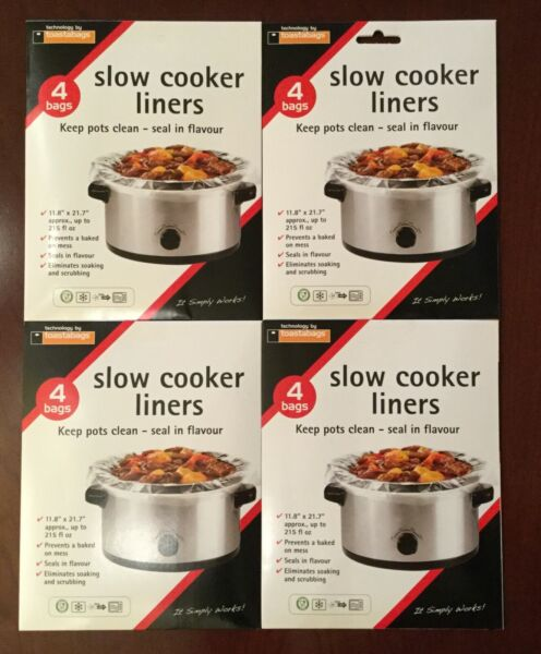 """16 Toastabags Crock Pot Slow Cooker Liners bags 11.8"""" x 21.7"""" up to 215 fl oz"""
