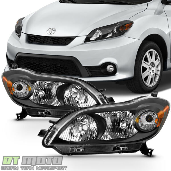 For 2009 2013 Toyota Matrix Black Headlights Headlamps Aftermarket LeftRight $139.99
