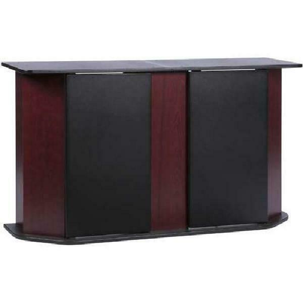 Aquarium Stand Storage Cabinet Fish Tank Holder 55 Gallon Door Home Cherry Black $116.46