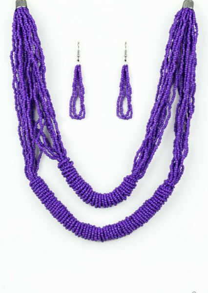 Paparazzi Jewelry Necklace Right As RAINFOREST Purple