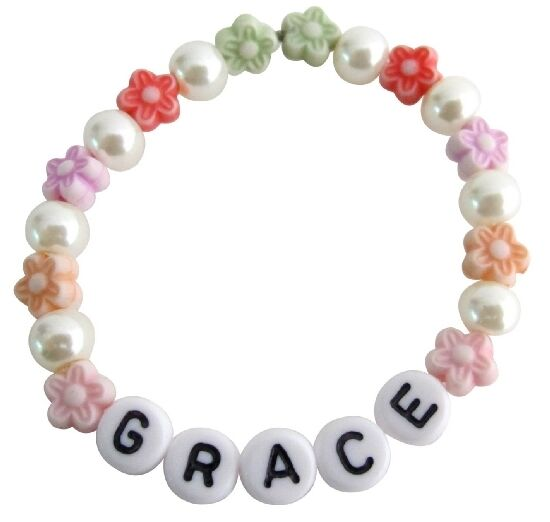 Personalized Children Stretchable Bracelet Star Beads $8.99