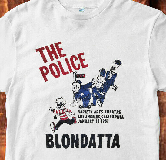 Vintage 1981 The Police Blondatta Concert Tour 80s Band Fan thin