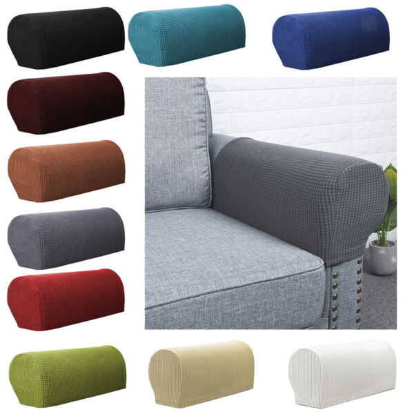 2pcs Stretch Sofa Armrest Covers Furniture Settee Loveseat Arm Slipcover $8.98