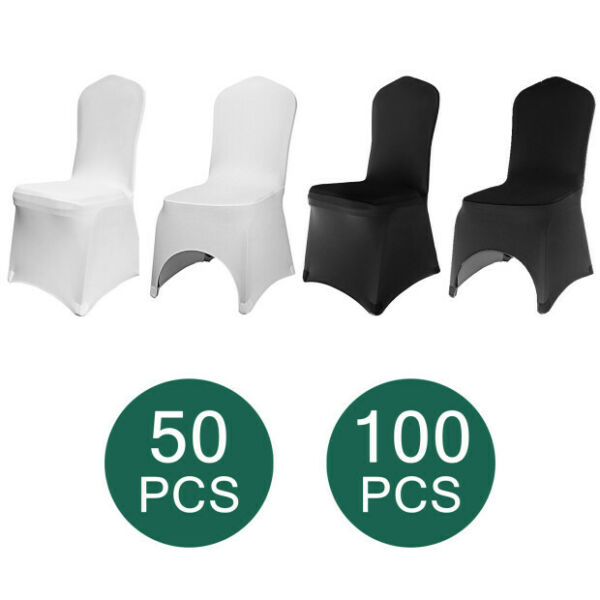 50/100 Universal Chair Covers Stretch Spandex Wedding Party Banquet Hotel Decor