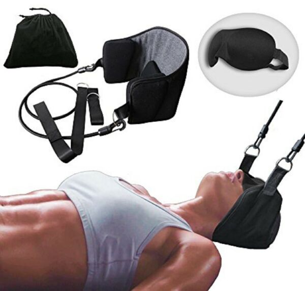 Head Hammock for Neck amp; Headaches Pain Relief Cervical Traction Stretcher w Gift $15.99