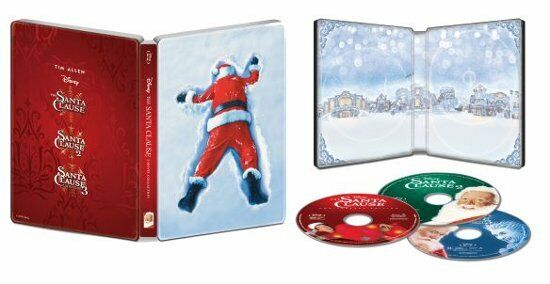 New The Santa Clause 3 Movie Collection Blu ray Digital Code Steelbook