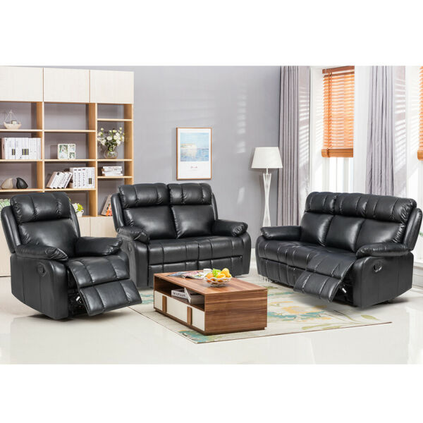 Loveseat Chaise Reclining Couch Recliner Sofa Chair Leather Accent Chair Set SF $429.99