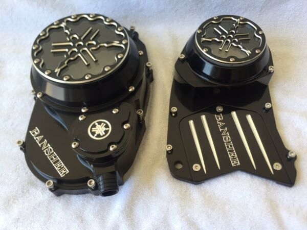 Yamaha Banshee Atv Combo Clutch Cover and  Stator Cover with Lexan Lens Número 1