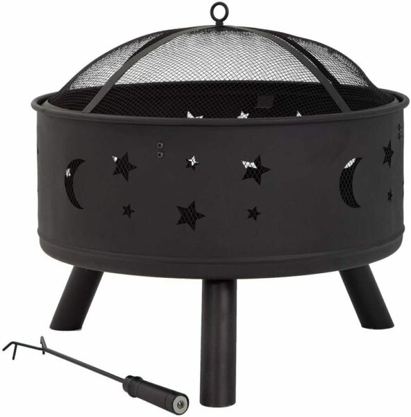 Fire Pit Fire Pit Metal Fire Bowl Fireplace Backyard Patio Stove for Camping