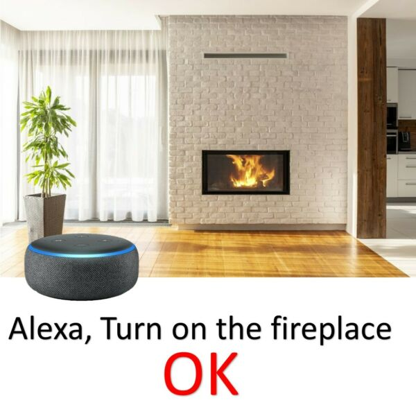 ALEXA Controlled Fireplace. Smart relay switch kit for Millivolt Gas Valve