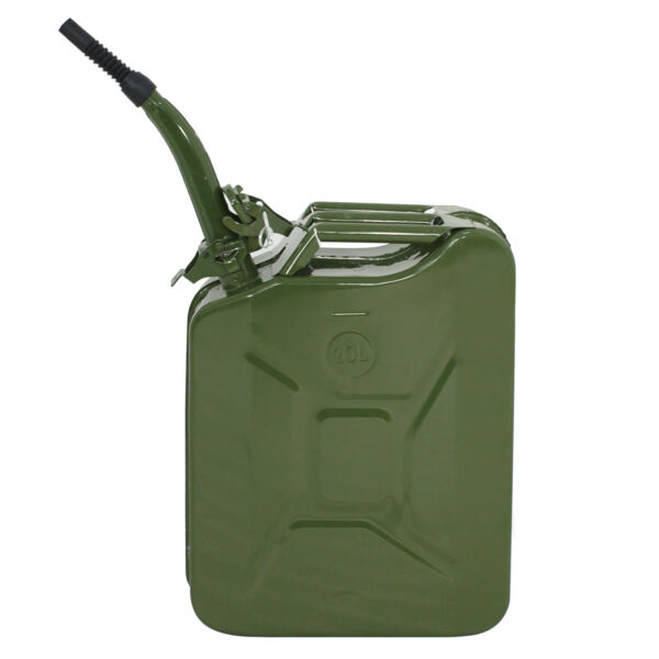 20L Army Backup Jerry Can Gasoline Fuel Can Metal Tank Emergency Motor 5 Gal $38.99