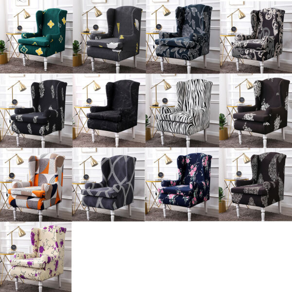 Stretch Wing Chair Cover Slipcover Wingback Armchair Protector Furniture Covers $29.74