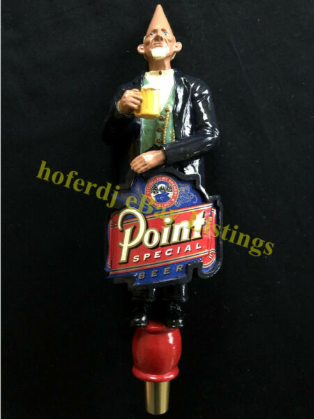 Point Special Beer Keg Tap Handle Stevens Point Brewery 3D Conehead Ceramic