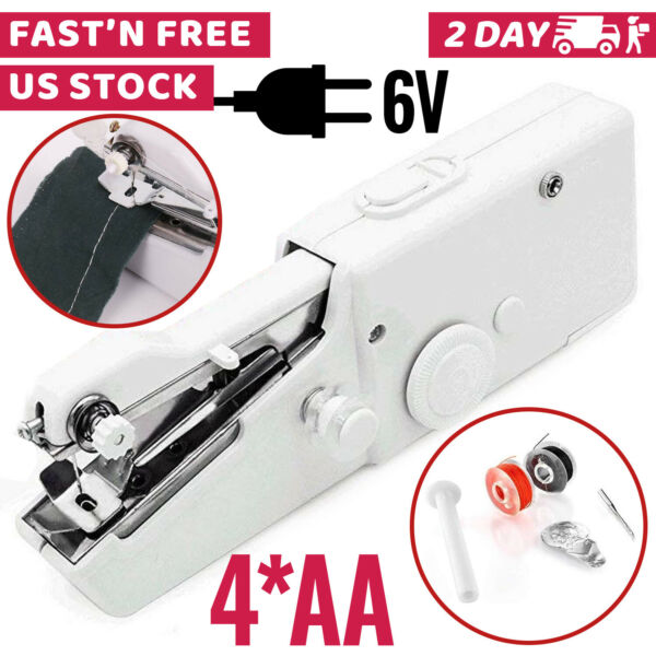 Handheld Sewing Machine Portable Mini Cordless Stitch Tool For Fabric Clothing