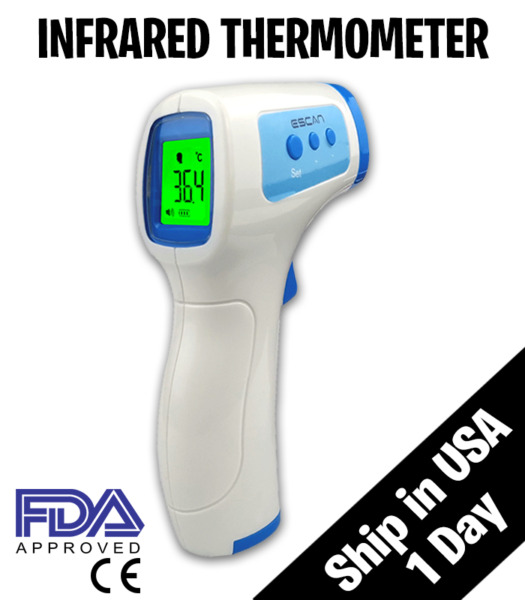 Medical NON CONTACT Body Forehead IR Infrared Digital Thermometer Adult Baby