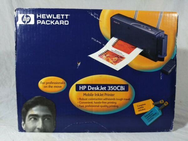 NOS - HP Deskjet 350CBi Mobile Inkjet Printer Laptop Notebook PC