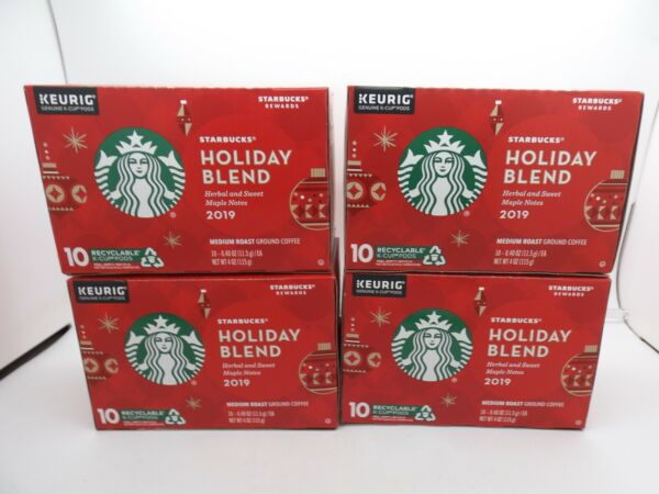 Starbucks Coffee 2019 Holiday Blend Keurig K Cups 40total Med Roast Pods 3 23 20
