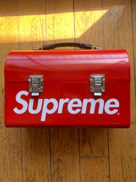 SUPREME METAL LUNCH BOX RED BOX LOGO PAIL FW15 PACK Shipping next Day