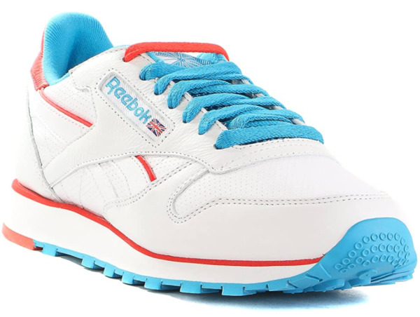 Men's Reebok Lifestyle Classic Leather Perf White Blue 43138 NEW All SIZES