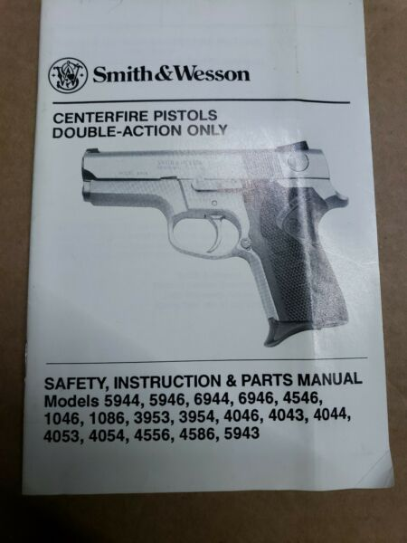 Smith & Wesson Centerfire Pistols Safety Instruction & Parts Manual 792