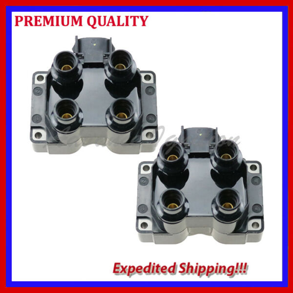 2PC IGNITION COIL UFD300 FOR 1991 1992 1993 Ford Mustang L4 2.3L