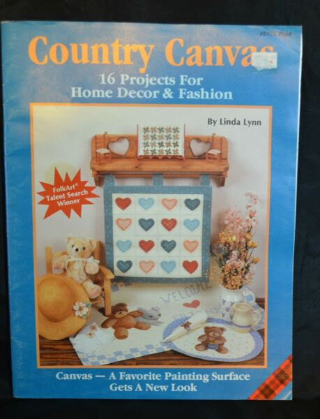 Country Canvas Pattern Instruction Painting Decor Fashion Craft 1989 Plaid