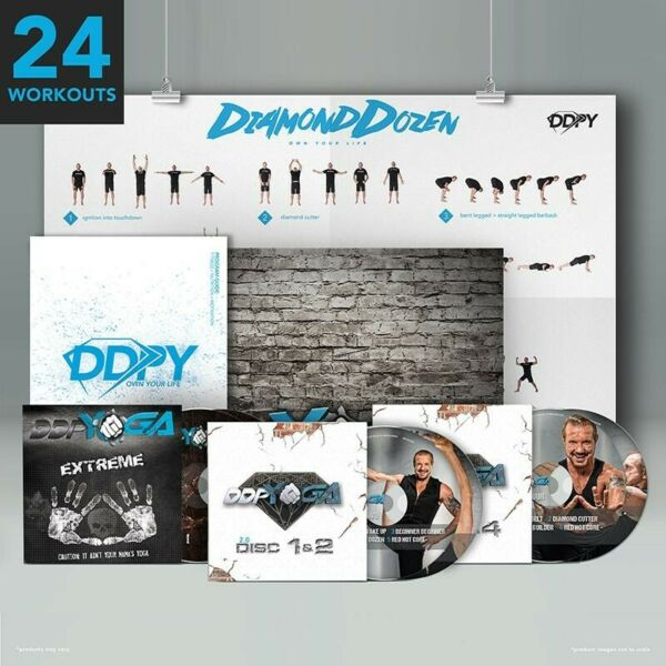 DDP Yoga 2.0 DVD discs 1 4 with Poster amp; Program Guide plus extreme DVDs too
