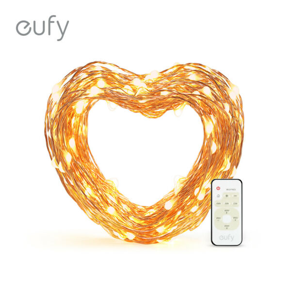 eufy 33 ft LED Decorative Lights Dimmable Remote Control Starlit String Lights
