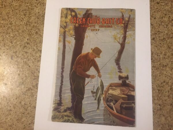 Rare 1937 Creek Chub Bait Company Catalog 31 Pages