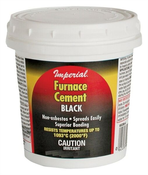 NEW IMPERIAL KK0304 32OZ HIGH HEAT STOVE FIREPLACE BLACK FURNACE CEMENT 5385653 $7.95