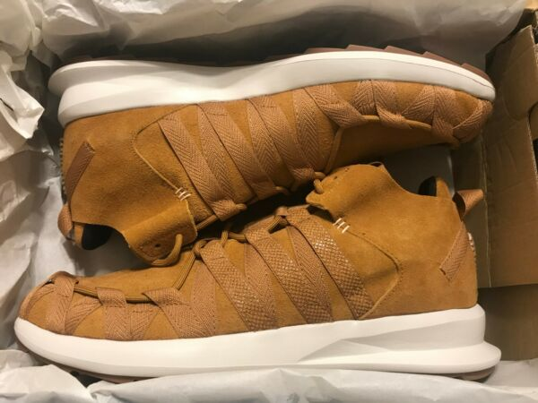 New Adidas SL LOOP MOC Casual Men's Shoes Size 11.5 Mesa Brown Red C77014