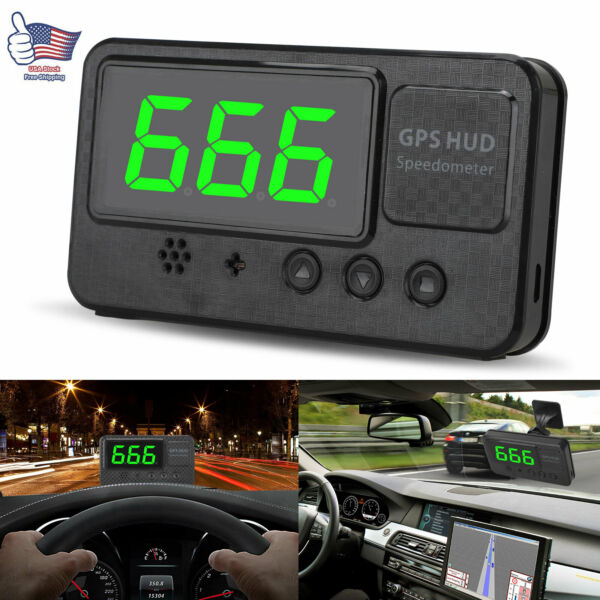 3quot; Car Digital GPS Speedometer Head Up Display Overspeed MPH KM H Warning Alarm $23.97